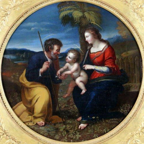 Italian School S17h According Raphael (1483-1520) Holy Family At Palmtree -
