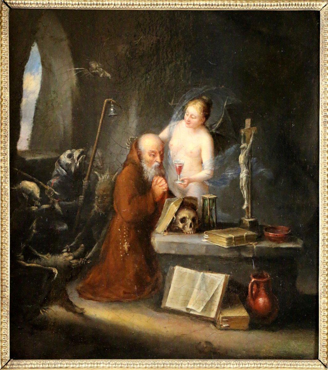 Ecole hollandaise du xviiie si cle la tentation de saint for Miroir st antoine