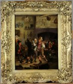 English School - Tavern Scene dated 1802