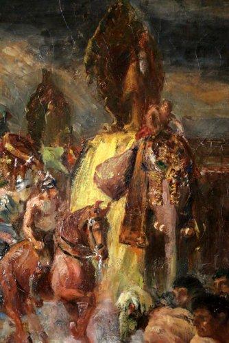 Paintings & Drawings  - George -Antoine Rochegrosse (1859-1938) Alexander the Great in Battle Of Th