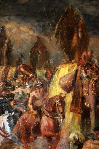 George -Antoine Rochegrosse (1859-1938) Alexander the Great in Battle Of Th -