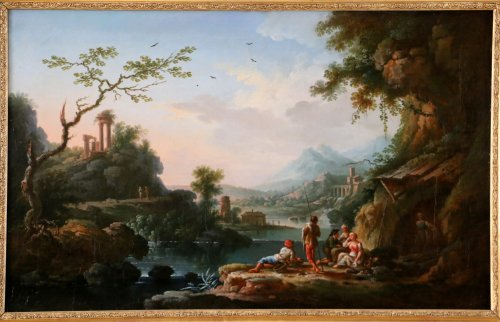 Jean Baptiste Claudot said Claudot From Nancy (1733-1805) Paysage Animé