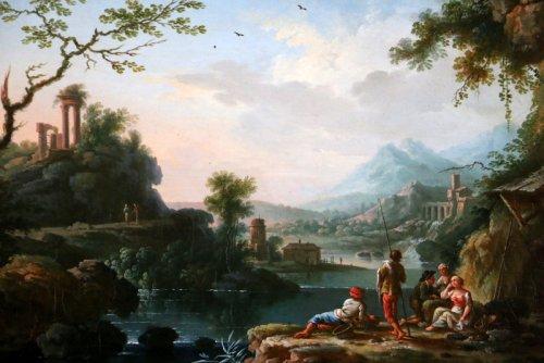 Jean Baptiste Claudot said Claudot From Nancy (1733-1805) Paysage Animé -