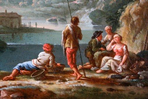 18th century - Jean Baptiste Claudot said Claudot From Nancy (1733-1805) Paysage Animé