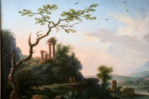 Jean Baptiste Claudot said Claudot From Nancy (1733-1805) Paysage Animé - Louis XVI