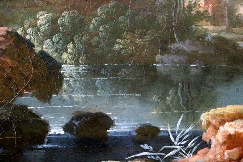 Antiquités - Jean Baptiste Claudot said Claudot From Nancy (1733-1805) Paysage Animé