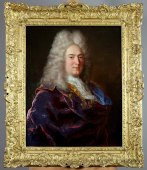 Portrait Of A Gentleman Attributed To André Bouys 1656-1740
