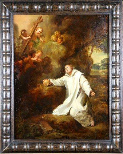 Workshop From Charles De La Fosse (1636-1716 paris ) . Saint Bruno in Ecsta