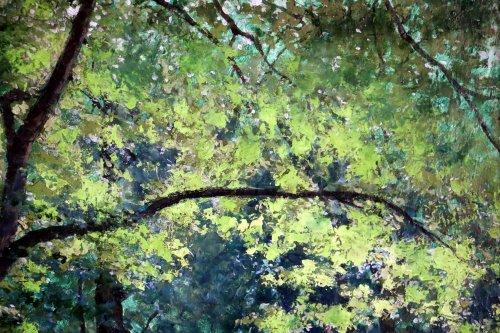 """19th century -  Tristan Lacroix (1849-1914) , Landscape titled """" Barbizon """" signed and dat"""