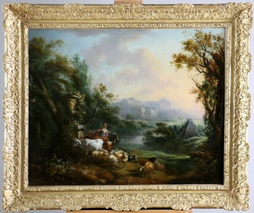 Jean-Baptiste Lallemand.(Dijon 1716-Paris 1803)-attributed; pastoral scene
