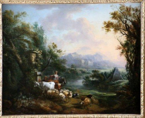 Paintings & Drawings  - Jean-Baptiste Lallemand.(Dijon 1716-Paris 1803)-attributed; pastoral scene