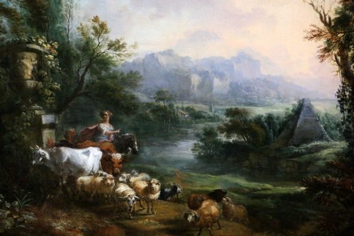 Jean-Baptiste Lallemand.(Dijon 1716-Paris 1803)-attributed; pastoral scene -