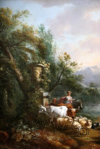 Jean-Baptiste Lallemand.(Dijon 1716-Paris 1803)-attributed; pastoral scene - Louis XV