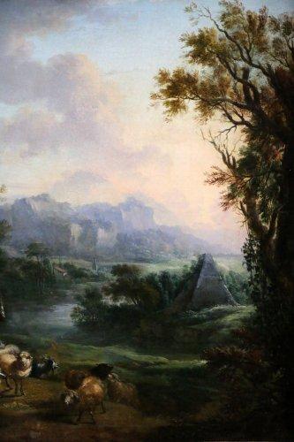 Louis XV - Jean-Baptiste Lallemand.(Dijon 1716-Paris 1803)-attributed; pastoral scene