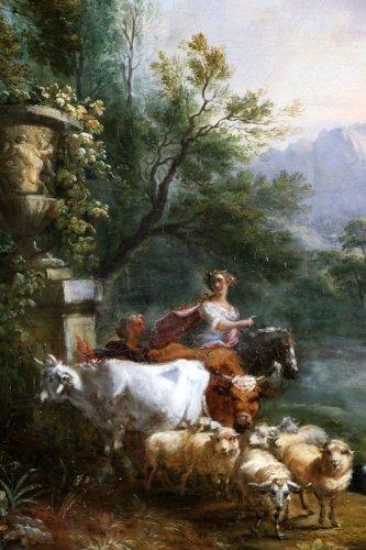 Antiquités - Jean-Baptiste Lallemand.(Dijon 1716-Paris 1803)-attributed; pastoral scene
