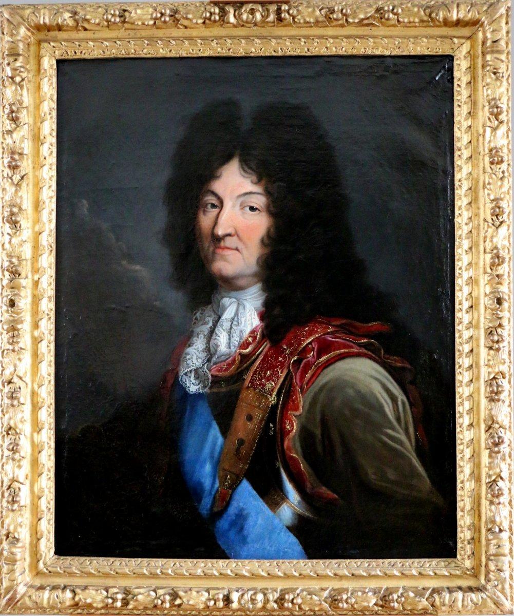 Workshop Hyacinthe Rigaud 1659-1743 - Portrait of Louis XIV