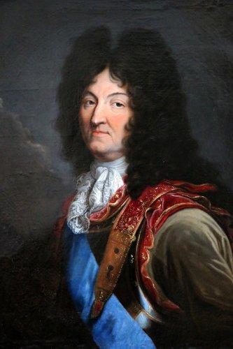 Paintings & Drawings  - Workshop Hyacinthe Rigaud 1659-1743 - Portrait of Louis XIV