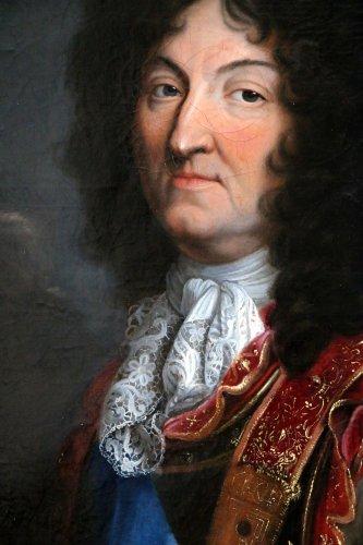 17th century - Workshop Hyacinthe Rigaud 1659-1743 - Portrait of Louis XIV
