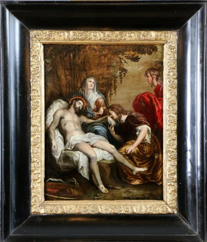 French School 18th - The Lamentation of Christ follower of Anthony van Dyck - Paintings & Drawings Style Louis XVI