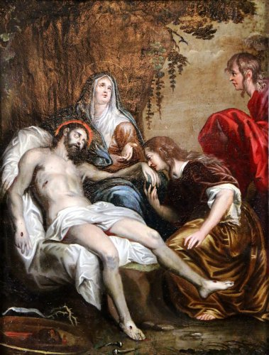French School 18th - The Lamentation of Christ follower of Anthony van Dyck -