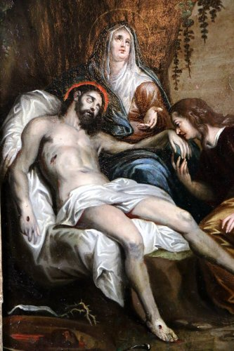 18th century - French School 18th - The Lamentation of Christ follower of Anthony van Dyck