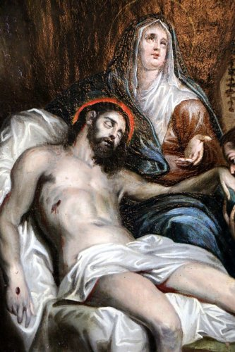 French School 18th - The Lamentation of Christ follower of Anthony van Dyck - Louis XVI