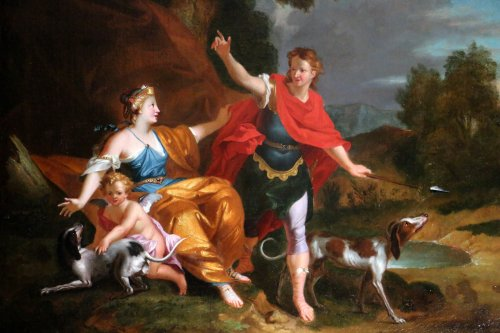 Workshop of Pierre-Jacques Cazes (1676-1754) Venus & Adonis - Paintings & Drawings Style Louis XV