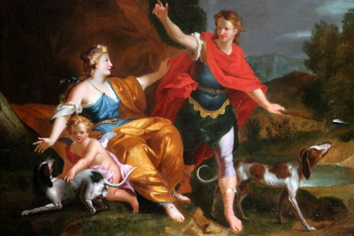 Paintings & Drawings  -  Workshop of Pierre-Jacques Cazes (1676-1754) Venus & Adonis