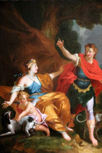 Workshop of Pierre-Jacques Cazes (1676-1754) Venus & Adonis -
