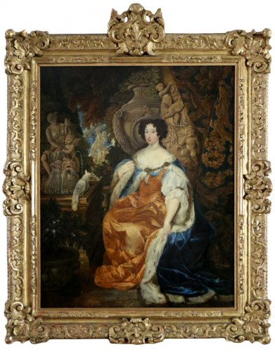 Portrait of Queen Mary II of England (1662-1694). Dutch school end of 18th