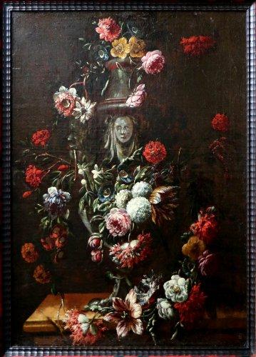 Mario Nuzzi  (Penne 1603 – Rome 1673) - workshop - Paintings & Drawings Style Louis XIII