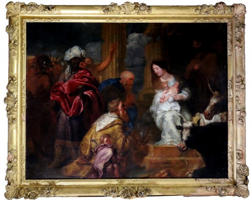 Adoration of the Magi kings - Flanders XVIIth-around PP.Rubens