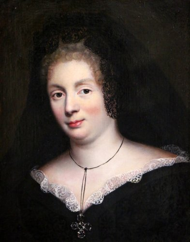 Madame De Maintenon around 1670, Pierre Mignard workshop - Paintings & Drawings Style Louis XIV