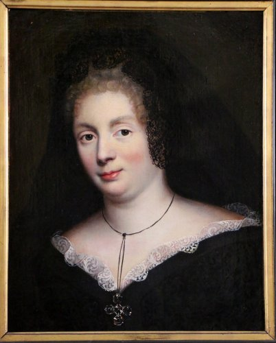 Antiquités - Madame De Maintenon around 1670, Pierre Mignard workshop