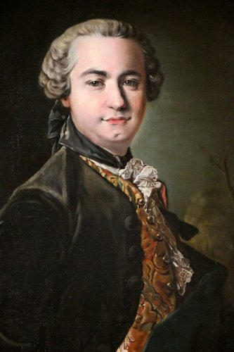 Paintings & Drawings  - Portrait of Victor Riquetti of Mirabeau by the workshop of Louis Tocqué (1696-1772)