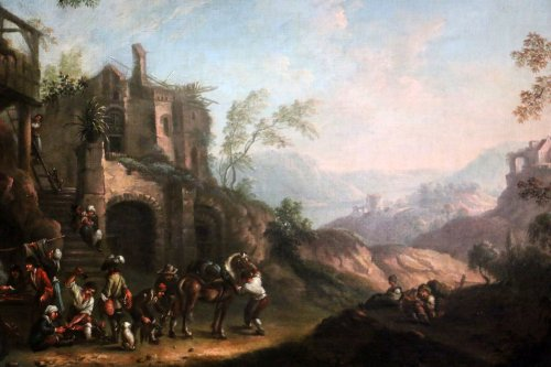 Dutch School of the XVIIth century, attributed to Andries Dirksz. Both -