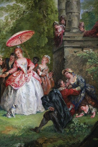 French school  of the 18th century - The fortune-teller -