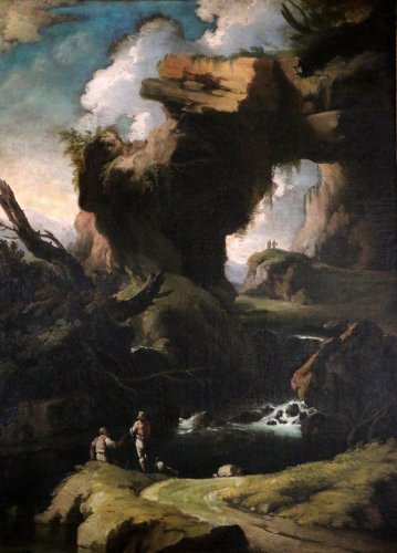 Large Landscape attributed to Salvator Rosa (1615-1673) and his workshop.