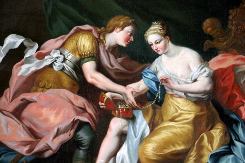 Italian School of the 17th Century - Mythological Venus and Mars - Paintings & Drawings Style