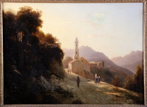 Louis-Auguste Lapito (1803-1874) - Animated landscape of Corsica