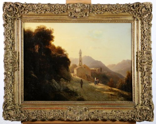 Louis-Auguste Lapito (1803-1874) - Animated landscape of Corsica - Paintings & Drawings Style Louis-Philippe