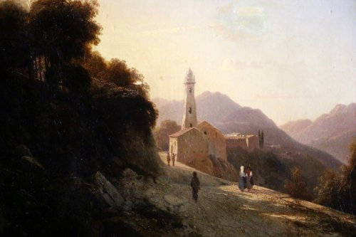 Paintings & Drawings  - Louis-Auguste Lapito (1803-1874) - Animated landscape of Corsica