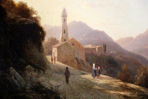 Louis-Auguste Lapito (1803-1874) - Animated landscape of Corsica -
