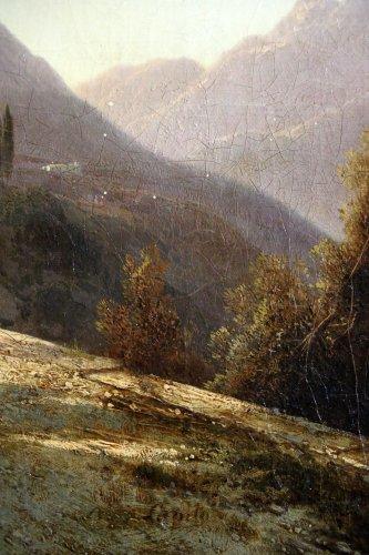 19th century - Louis-Auguste Lapito (1803-1874) - Animated landscape of Corsica