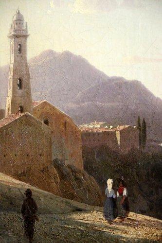 Louis-Auguste Lapito (1803-1874) - Animated landscape of Corsica - Louis-Philippe