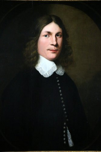 Paintings & Drawings  - Portrait of a young man - Dutch School of the XVIIth century dated 1648