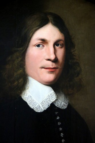 Portrait of a young man - Dutch School of the XVIIth century dated 1648 -