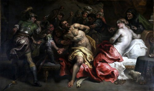 Simon De Vos (1603-1676) - The Samson Arrest