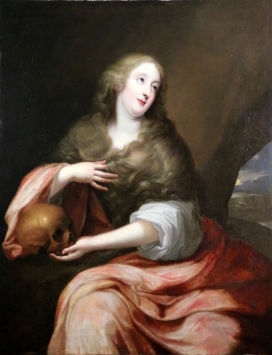 Presumed portrait of Louise d'Aubéry - Flemish School circa 1630-1640 - Paintings & Drawings Style Louis XIII