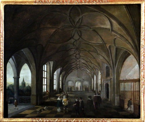 Hendrik van Steenwijk I (1550-1603) - Royal Palace of Prague - Paintings & Drawings Style Renaissance